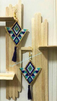 Brick Stitch Earrings, Seed Bead Earrings, Seed Beads, Drop Earrings, Bead Crochet Rope, Beading Projects, Beaded Jewelry, Jewerly, Bracelet Watch