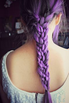 Awesome long purple braid!