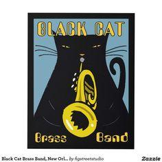 Black Cat Brass Band, New Orleans, 2017 Panel Wall Art
