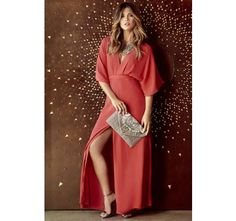 Where the Wind Blows Coral Red Maxi Dress   SHOP @ CollectiveStyles.com