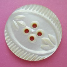 vintage mother of pearl button
