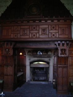 The beautiful fireplace at Ashford Castle, Cong, County Mayo, Ireland - copyright MissTricia27/tkm