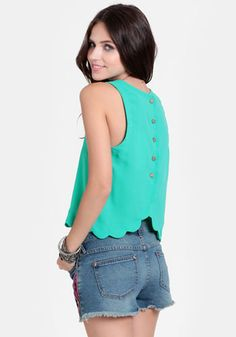 Lost At Sea Button Back Top #threadsence #fashion