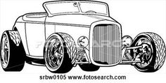 Street Rod Clip Art   Clipart - classic street rod. fotosearch - search clipart ...