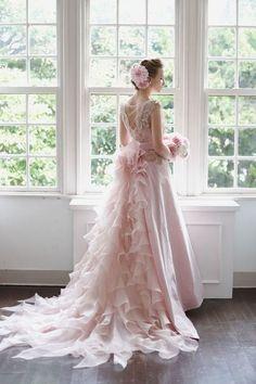 Pretty Wedding Dresses Collection Pretty Wedding Dresses, Beautiful Wedding Gowns, Colored Wedding Dresses, Bridal Dresses, Beautiful Dresses, Pink Gowns, Pink Dress, Flower Girl Dresses, Dream Dress