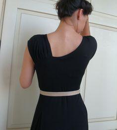 back of little black dress