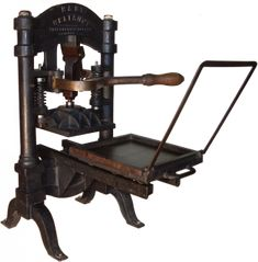 photographic collection of letterpress machines
