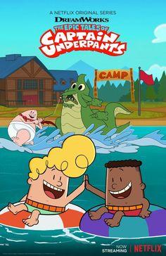 Captain Underpants Season 3 is Coming to Netflix! My Little Pony Movie, Captain Underpants, Austin Powers, Magic School Bus, Netflix Original Series, Bouncy Castle, Netflix Streaming, Dreamworks Animation, Challenges