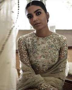 """""""The Udaipur Collection by Sabyasachi Mukherjee Model: Arshia Ahuja """" Indian Bridal Outfits, Indian Designer Outfits, Pakistani Outfits, Indian Dresses, Eid Outfits, Eid Dresses, Spring Outfits, Udaipur, 00s Mode"""