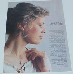 JANIE FRICKE MUSIC AD HIT ALBUM SINGER OF SONGS Advert Full Page #Unbranded