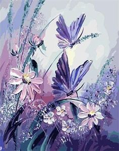 Top Fashion Special Offer Flower And Butterfly Diy Diamond Painting Embroidery Cross stitch Full Rhinestone Stick Mosaic Crafts Butterfly Art, Flower Art, Butterfly Painting Easy, Purple Butterfly, Butterflies, Diy Painting, Painting & Drawing, Art Papillon, Mosaic Crafts