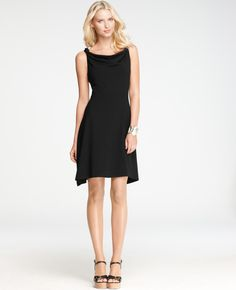 Ann Taylor - AT Dresses - Twisted Strap Dress - in black