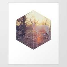 Magical Deer Art Print - Inspirational Forrest Nature Wall Art, Colorful Vintage Sunset Geometric Photography Art, Printable Animal Poster  Magical Deer. This eye-catching design will make anybody pause for a second and reflect.  Art & Collectibles, Prints, Digital Prints, digital art print, printable wall art, quote poster print, canvas quote art, inspirational art, geometric shapes art, sacred geometry art, deer photography, forrest nature print, animal print art, vintage sunset poster…