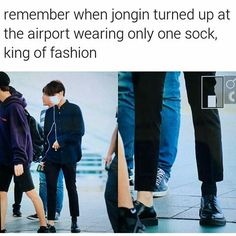I bet Suho dressed his ass into watever and dumped Jongin in the van