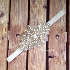 Rhinestone headband, white headband, flower girl headband, wedding headband, dressy headband, formal headband, halo, baby headband, by Heavenandhalos on Etsy https://www.etsy.com/listing/198016375/rhinestone-headband-white-headband