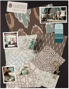 Lacefield Designs #Seaglass and Rain #textile #moodboard www.lacefielddesigns.com