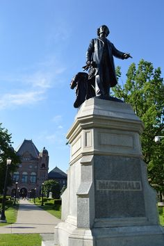 Sir John A. MacDonald was the first Prime Minister of . First Prime Minister, Downtown Toronto, University Of Toronto, Black History Month, Montreal, Ontario, Statue Of Liberty, Past, Michigan
