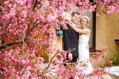 Pretty white blossoms during a Spring Wedding at Villa Parker, a Colorado wedding and event venue.  Photo credit:  Frances Photography