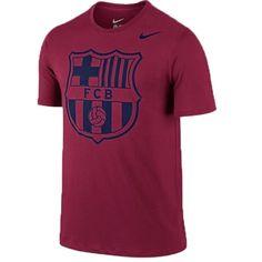 Nike Men's FC Barcelona Core Type Tee Nobel Red