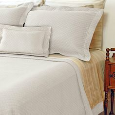 Diamante Matelasse Coverlet in White - BedBathandBeyond.com