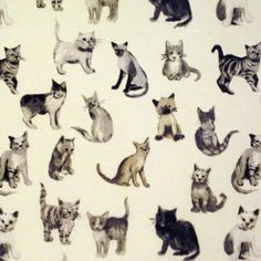 Want an Oilcloth with a fun side to it? Then the Cool Cats Charcoal Oilcloth will be the Oilcloth for you! This oilcloth is bound to make your guests smile.