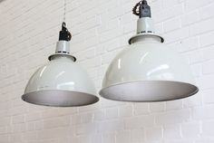 Large Industrial Mushroom Grey Pendant Lights By Thorlux Vintage Industrial Lighting, Pendant Lighting, Bulb, Ceiling Lights, Mushroom, Steel, Grey, Interior, Dining Room