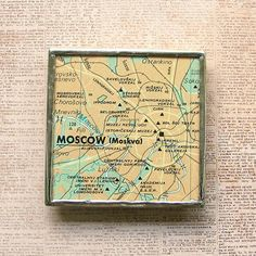 Moscow Map Magnet by XOHandworks