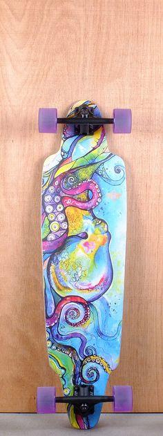 """Dusters Prebuilt 38"""" Kraken Longboard Complete Bottom"""