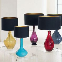 jewel table lamps - love the colors