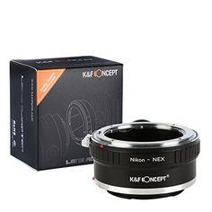 K&F Concept® Nikon - NEX Objektiv Mount Adapter Ring Objektiv Adapterringe für Nikon AI AI-S F Objektiv Mount Objektiv Adapterringe auf Sony NEX - http://kameras-kaufen.de/k-f-concept/k-f-concept-nikon-nex-objektiv-mount-adapter-ring-s