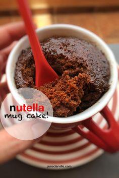 valentines day mug cake