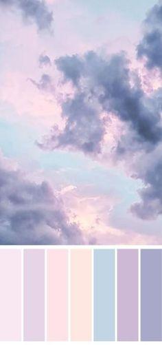 64 Ideas bedroom colors palette pastel - Trend Topic For You 2020 Pastel Colour Palette, Colour Pallette, Colour Schemes, Pastel Colors, Colours, Lilac Color, Color Schemes For Bedrooms, Pastel Sky, Blue Palette