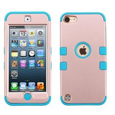 MYBAT TUFF Hybrid Apple iPod Touch 5G / 6G Case - Rose Gold/Teal