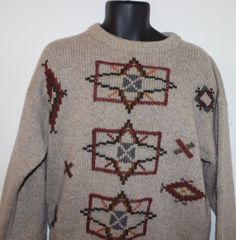 Woolrich Men's Hand Framed Crewneck Ski Sweater Size Large #Woolrich #Crewneck
