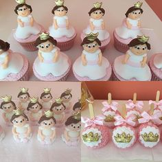 Cupcakes, Trufas e maçãs para festa princesa. #benditosbrigadeiros #doces #candy #docesmodelados ...