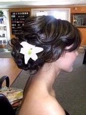 curly updo with flower 1
