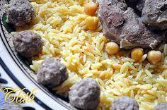 Tlitli sauce blanche à la viande et boulettes de viande Hachée تليتلي - Couscous et Puddings