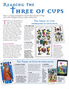 Reading the three of cups