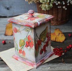 """Купить """"Осенняя ягода"""" короб в интернет магазине на Ярмарке Мастеров"""