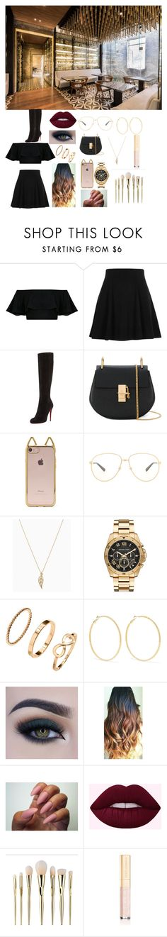 """""""Clothes to go to a restaurant"""" by beatrizsantos2413 on Polyvore featuring moda, River Island, Christian Louboutin, Chloé, Forever 21, Michael Kors, H&M, Kenneth Jay Lane, Too Faced Cosmetics e Dolce&Gabbana"""