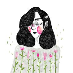 Discover images and videos about Kathrin Honesta from all over the world on We Heart It. Art And Illustration, Illustrations And Posters, Art Inspo, Kunst Inspo, Pretty Art, Cute Art, Bel Art, Art Graphique, Art Design