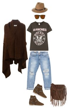 """""""Style#442"""" by mussedechocolate ❤ liked on Polyvore featuring Isabel Marant, Acne Studios, Current/Elliott, Glamorous, MadeWorn, Matthew Williamson and Rusty"""