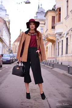 The perfect cape   #culottes #cape #looks #fancy #modern #style #burgundy