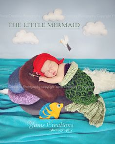 New Ideas For New Born Baby Photography : Ariel The Little Mermaid Hat baby size by StrungOutFiberArts - Photography Magazine Newborn Pictures, Baby Pictures, Baby Photos, Disney Princess Babies, Disney Babies, Mermaid Hat, Diy Bebe, Crochet Baby Hats, Newborn Crochet