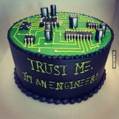 husband just graduated in Electrical Engineering! My husband just graduated in Electrical Engineering!My husband just graduated in Electrical Engineering! Engineering Cake, Electrical Engineering, Engineering Memes, Computer Engineering, Computer Cake, Cute Cakes, Creative Cakes, Cakes And More, Cake Designs