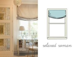 Marcus Design: {the many styles of roman shades} Roman Shades style #2 - not the style I'm wanting.