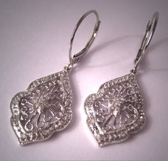 Beautiful vintage diamond earrings