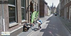 Dutch guys mooning Google Street View
