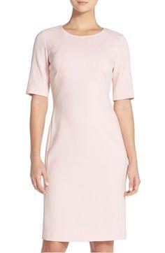 9411d1ae Eliza J Crepe Sheath Dress (Regular & Petite) | Nordstrom