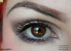 """1920s"" by MakeupArtistMe! ""Moonwalk, Belladonna and Snow White pigments."